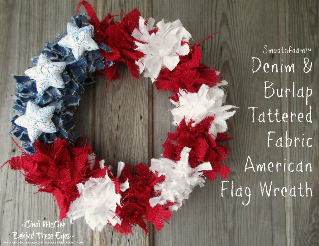 smoothfoam independence day wreath