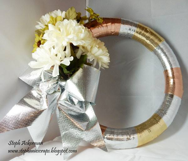 smoothfoam metallic wreath