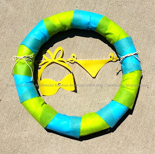 summer bikini wreath
