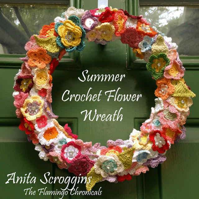 Smoothfoam crochet flower wreath