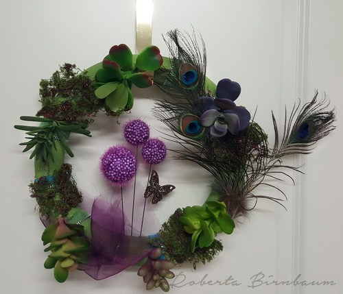 smoothfoam faux succulent wreath