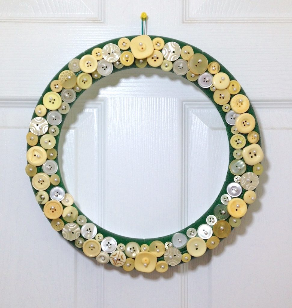 Smoothfoam button wreath by Lisa Fulmer