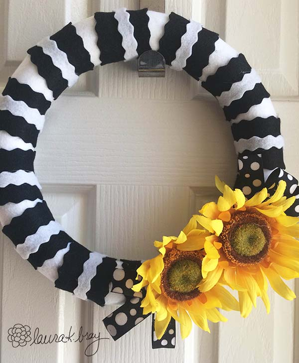 smoothfoam sunflower wreath