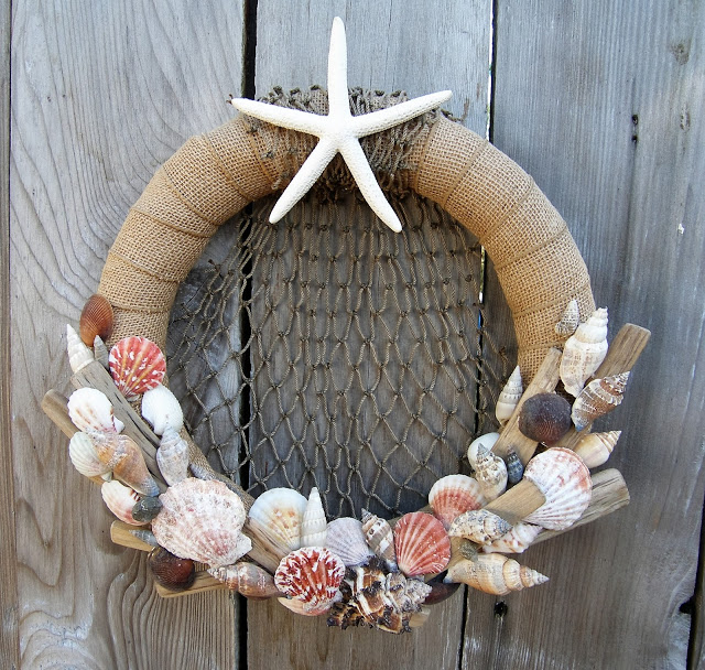 seashell smoothfoam wreath
