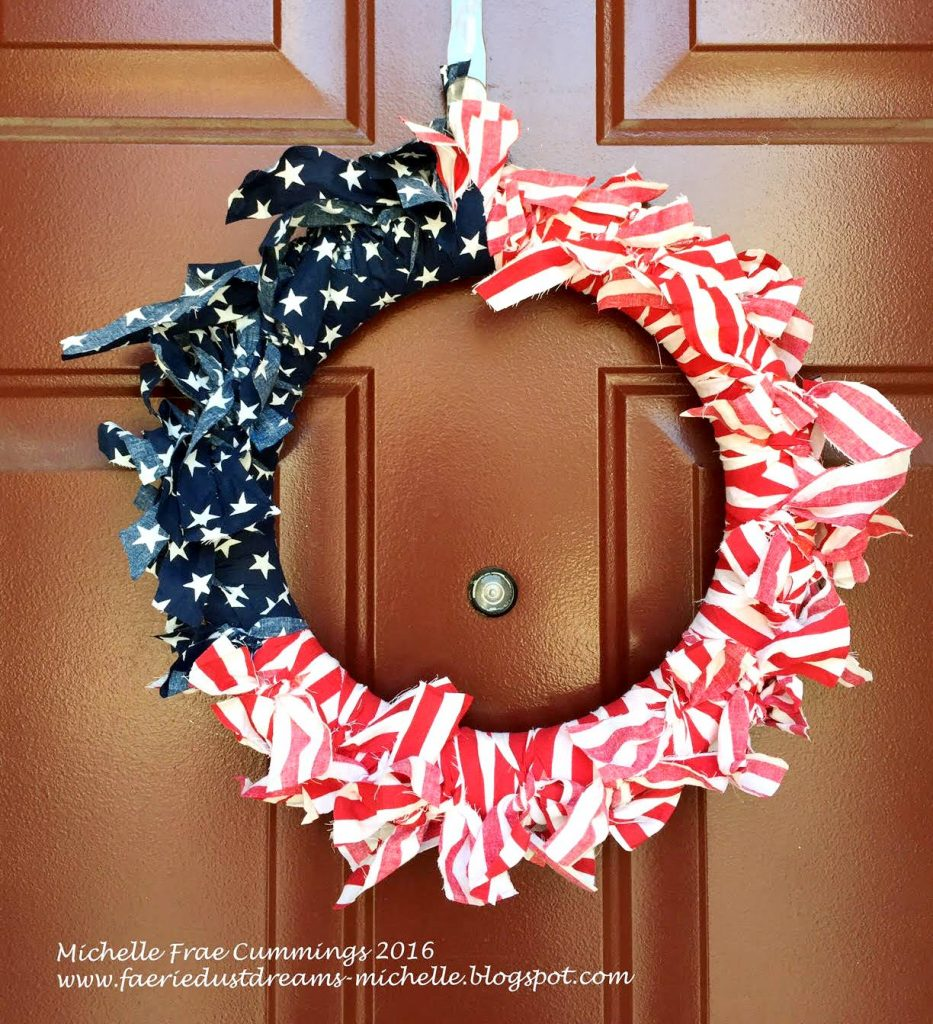 smoothfoam flag wreath