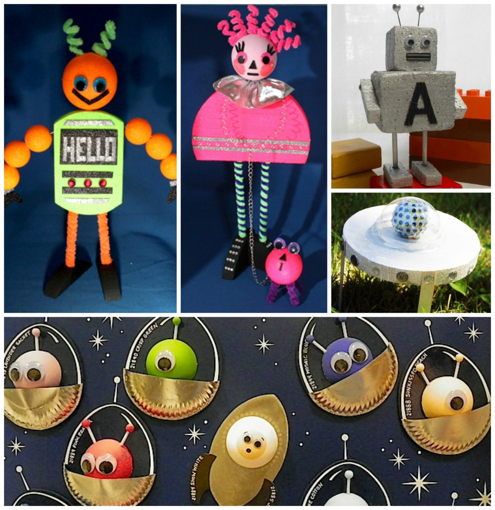kids crafts robots and aliens