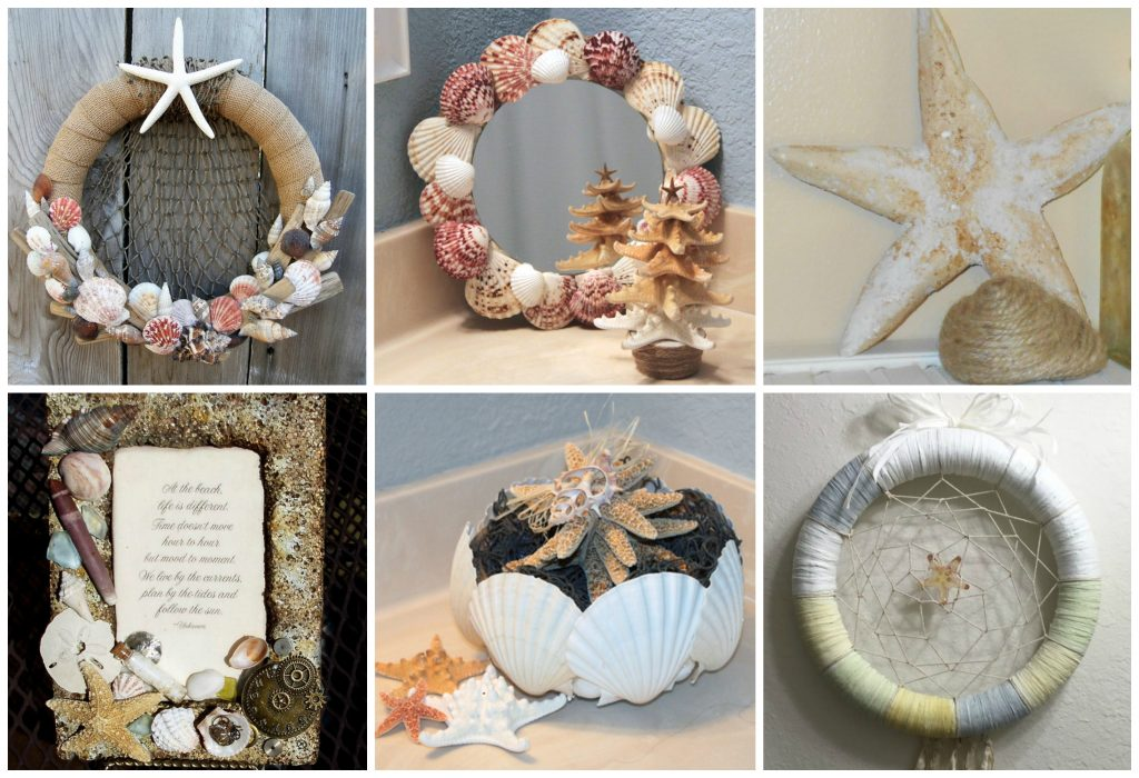 Seaside shells decor