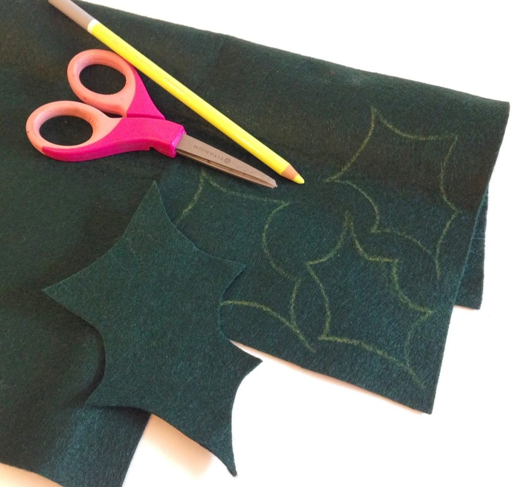 cut-holly-leaves-felt