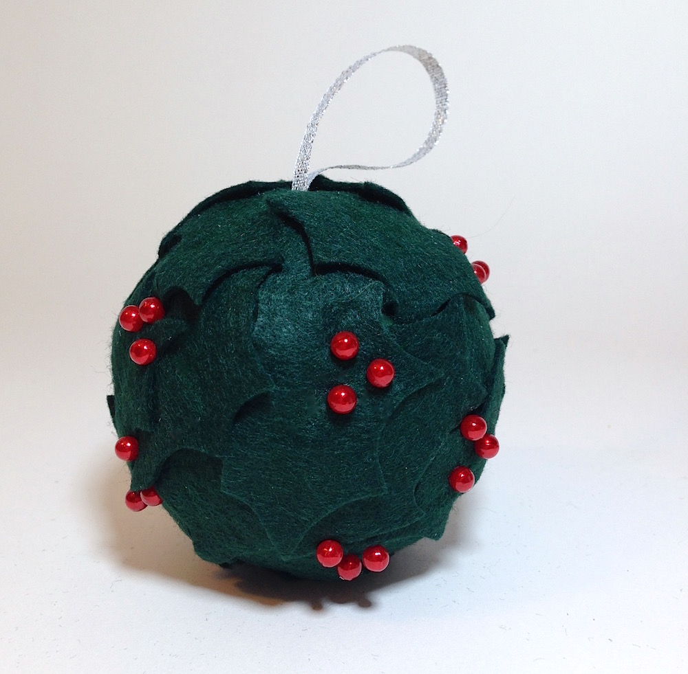 holly ball smoothfoam ornament